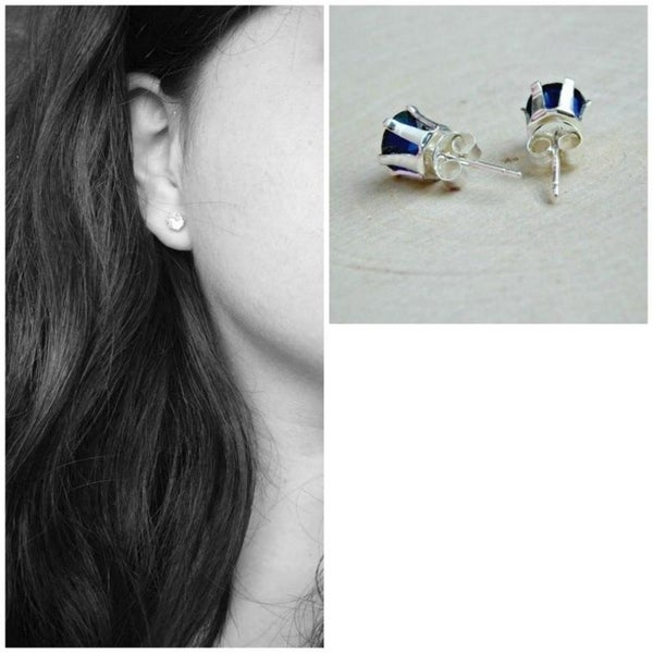 Girls Angel Colorful Ear Studs 925 Sterling Silver