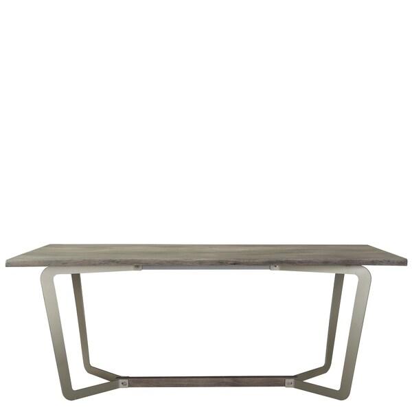 "Waverly Dining Table - sandblasted gray - 76.00""w x 39.25""d x 30.00""h"
