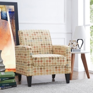 Link to Handy Living Belmont Beige Retro Dot Arm Chair Similar Items in Accent Chairs