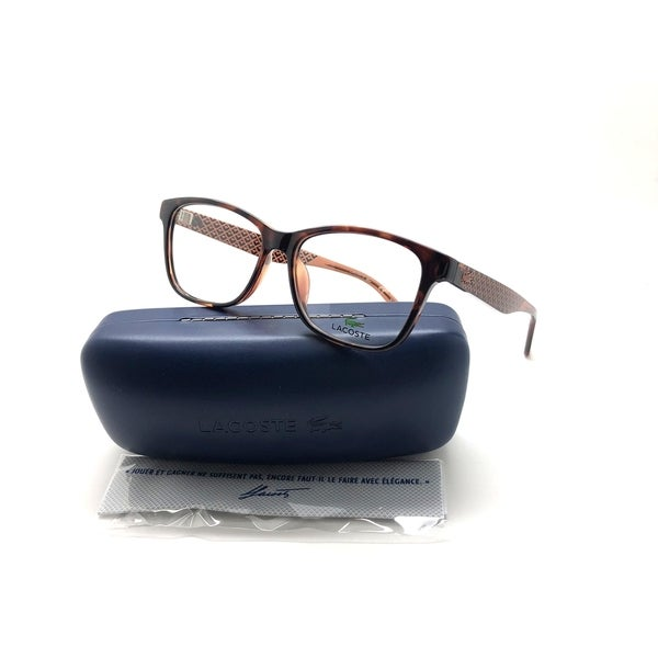 e0845b068d Shop Lacoste L2774-210-54 Women s Brown Frame Clear Lens Genuine Eyeglasses  - Free Shipping Today - Overstock.com - 24250817