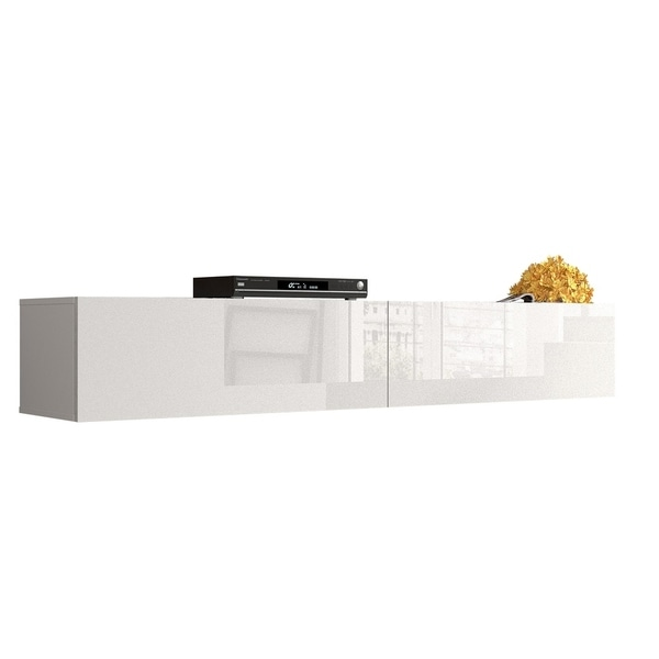 Shop Berno Modern High Gloss Wall Mounted Floating 71 Tv Stand On