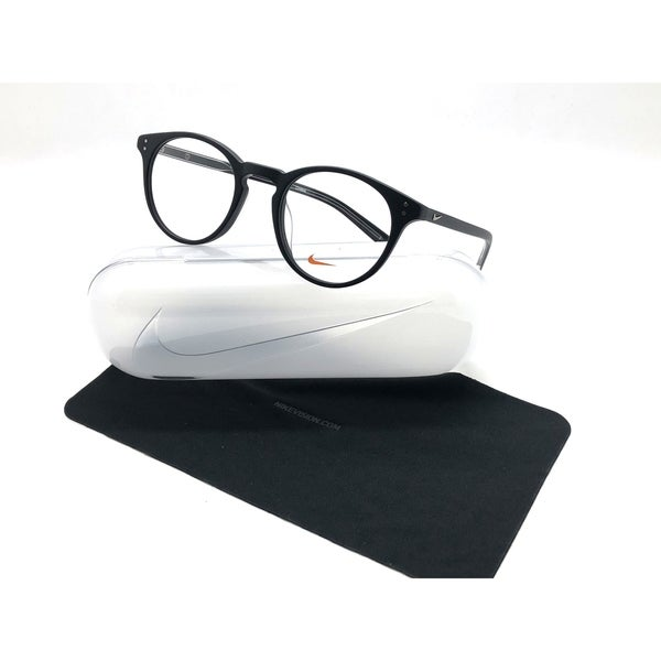 79b45a33e00c Shop Nike Round Matte Black Frames 49MM RX-ABLE Eyeglasses 36KD 001 - Free  Shipping Today - Overstock - 24250888