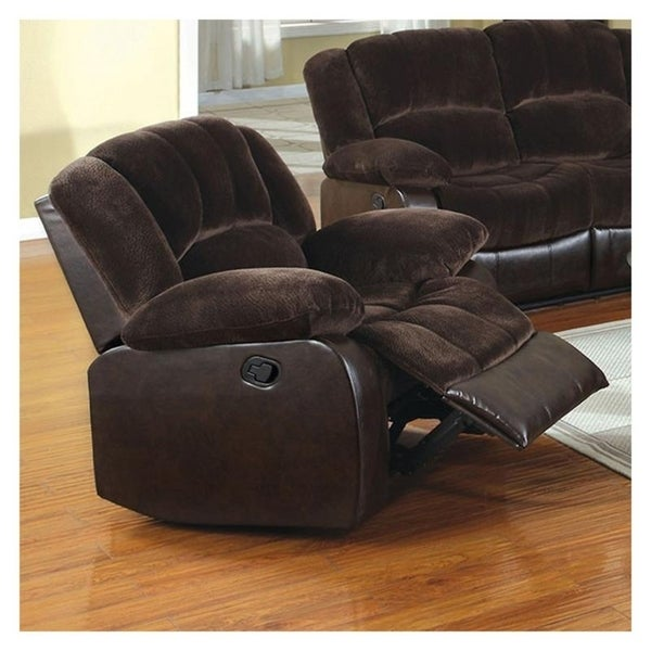 Williams Import CM6556CP-C Winchester Champion Brown Fabric/Wood/Leatherette Recliner