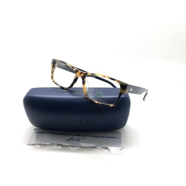 e232ec03b8d Shop Lacoste Rectangle L2660-218-5515 Yellow Havana 55mm Eyeglasses ...