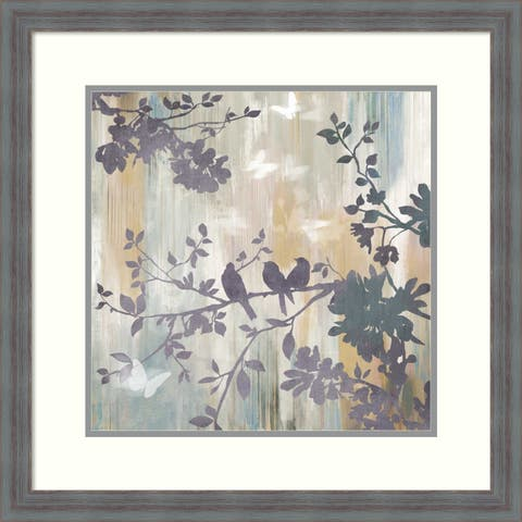 Framed Art Print 'Mist Foliage I' by Asia Jensen: Outer Size 24 x 24-inch