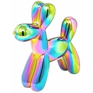 """Interior Illusions Plus Iridescent Mini Balloon Dog Bank  - 7.5"""" tall"""