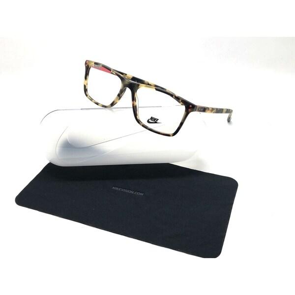 aeea74126b64b Shop Nike Matte Amber Tortoise 218 Authentic 54mm 7236 Eyeglasses ...