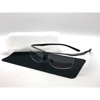 Nike 6060 067 Satin Gunmetal/Black Eyeglasses 58-13-140 Titanium
