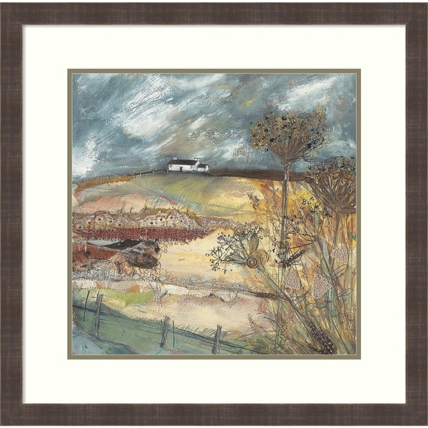 Framed Art Print 'Along the Farm Drive' by Louise O'hara: Outer Size 28 x 28-inch