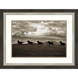 Framed Art Print 'Racing The Clouds' by Lisa Dearing: Outer Size 34 x 26-inch