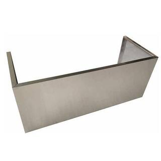 "NXR Stainless Steel Range Hood Chimney Cover Extension, 48"""