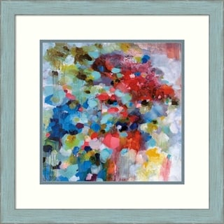 Framed Art Print 'Summer Symphony' by Brent Foreman: Outer Size 22 x 22-inch