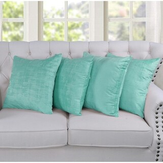 """Serenta Textured Velvet 4 Piece Pillow Shell Set, 20"""" x 20"""""""