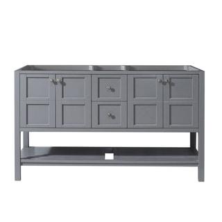 "Winterfell 60"" Double Bathroom Vanity Cabinet in Grey"
