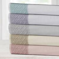 Amrapur Overseas Yorkshire Lace 4-Piece Sheet Set