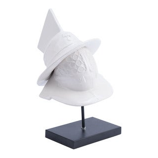 Quijote White Ceramic Figurine