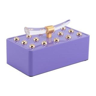 Silver Orchid Lefeuvrier Small Violet Decorative Box