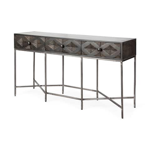 Mercana Hobbart III Brown Wood Console Table