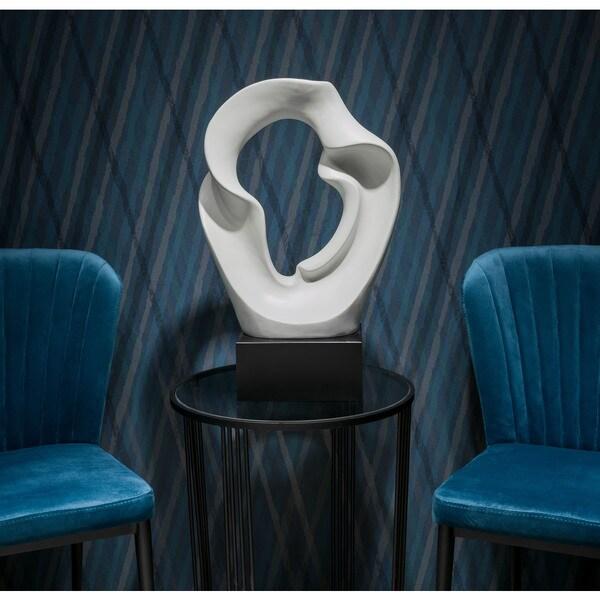Porch & Den White and Black Porcelain Table Sculpture