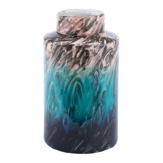 Porch & Den Swirling Green Ceramic Decorative Jar