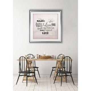 Family Rule -Framed Giclee Print