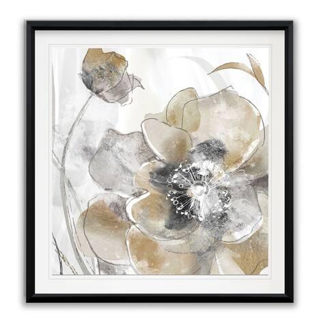 Taupe Spring Poppy I -Framed Giclee Print