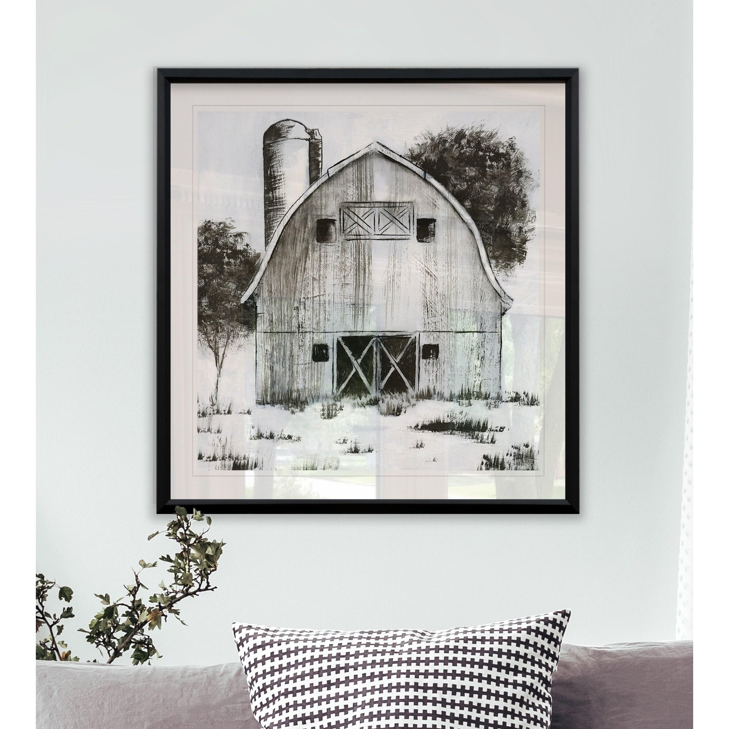 Black White Barn I Framed Giclee Print Overstock 24252361