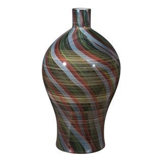 Porch & Den Riviera Multicolor Wave Ceramic Bottle