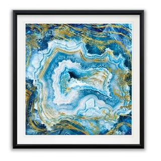 Touch of Gold Agate II -Framed Giclee Print