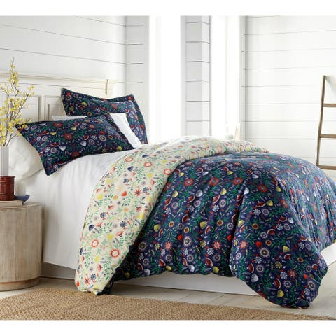 Vilano Plush All Seasons Boho Bloom Down Alternative 3-peice Comforter