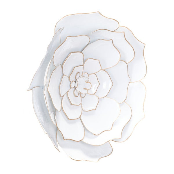 Silver Orchid Dahlberg White and Gold Steel Wall Decor