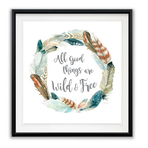 Feather Wild And Free -Framed Giclee Print