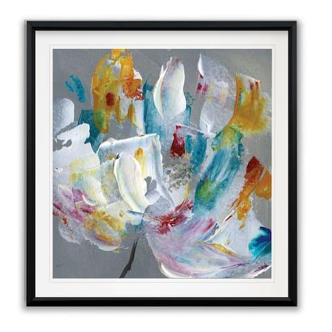 Tye Dye Flower -Framed Giclee Print