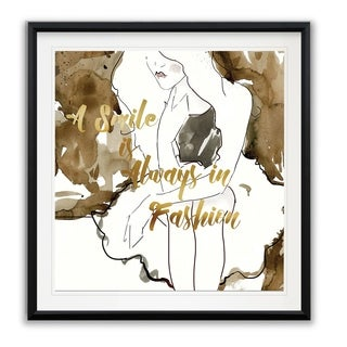 Fashion Sketch -Framed Giclee Print