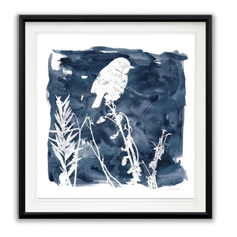 Indigo Bird I -Framed Giclee Print