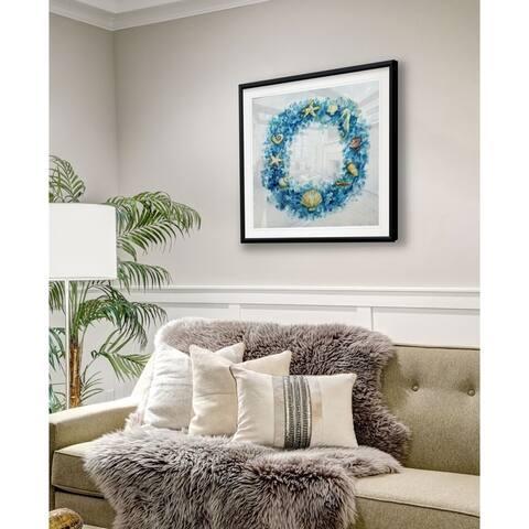 Coastal Wreath -Framed Giclee Print