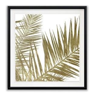 Golden Frond I -Framed Giclee Print