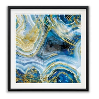 Touch of Gold Agate I -Framed Giclee Print