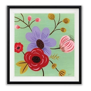 Vintage Flowers I -Framed Giclee Print