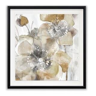 Taupe Spring Poppy II -Framed Giclee Print