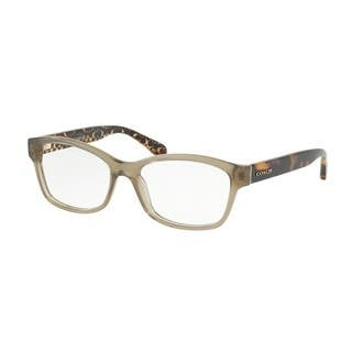 8b3c6afca3 Coach Rectangle HC6116 Women OLIVE Frame DEMO Lens Eyeglasses