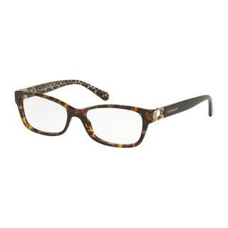 Coach Rectangle HC6119 Women DARK TORTOISE Frame DEMO Lens Eyeglasses
