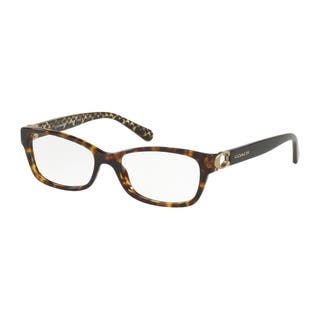 330a8712f45 Coach Rectangle HC6119 Women DARK TORTOISE Frame DEMO Lens Eyeglasses
