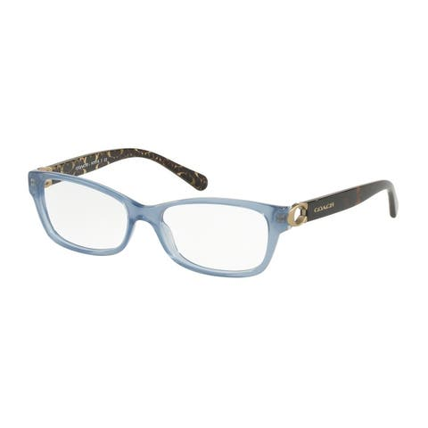 Coach Rectangle HC6119 Women MILKY BLUE DENIM Frame DEMO Lens Eyeglasses