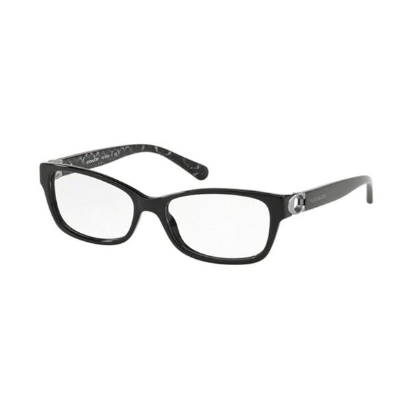 Shop Coach Rectangle HC6119F Women BLACK Frame DEMO Lens Eyeglasses ...