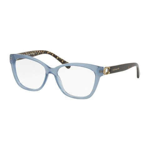 Coach Square HC6120 Women MILKY BLUE DENIM Frame DEMO LENS Lens Eyeglasses