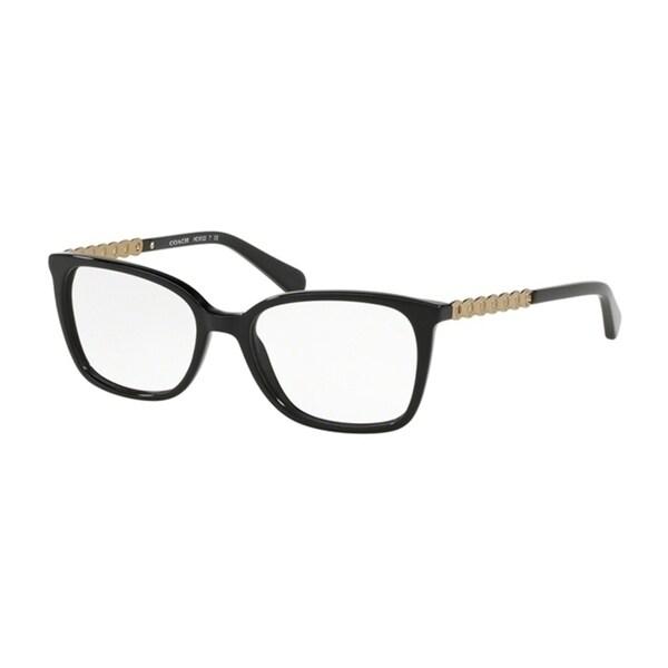 f8491236775c Coach Square HC6122F Women BLACK Frame DEMO LENS Lens Eyeglasses