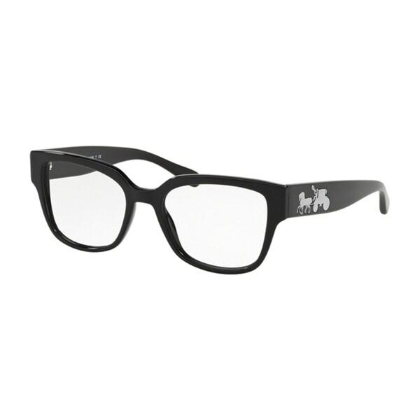 11c564f4ce34 Coach Square HC6126 Women BLACK SOLID Frame DEMO LENS Lens Eyeglasses