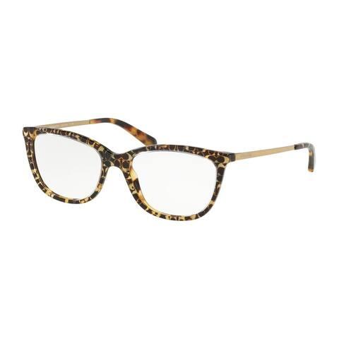 Coach Rectangle HC6124F Women SPOTTY TORT SIG C OUTSIDE Frame DEMO LENS Lens Eyeglasses