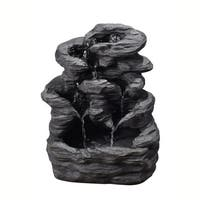Peaktop - Outdoor Tiered Stone Slate Fountain